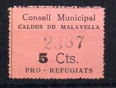 Viñeta De Consell Municipal Caldes De Malavella - Vignettes De La Guerre Civile