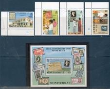 Montserrat 1990 --150°Anniversario Penny Black -- Yvert 735/38 +BF 54 **MNH/ VF - Montserrat