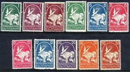 BULGARIA 1931-38 Dove Airmail Set Of 11 LHM / *.  Michel 235-41, 350-53 - Airmail