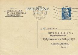 CARTE-POSTALE - ENTIER-POSTAL N° 812-CP2 - Strasbourg 24 Août 1951 Pour Valenciennes - Entiers Postaux