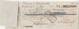 Lettre Change 1/3/1906 LALANDE Vins BORDEAUX Gironde Avec étiquette Georges LEPETIT Valognes Manche - Gallot - Lettres De Change