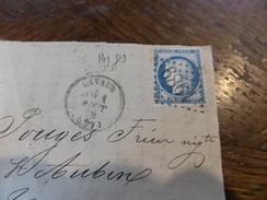 N°60 Surfragment ,variété ,planchage 141 D3 - Storia Postale
