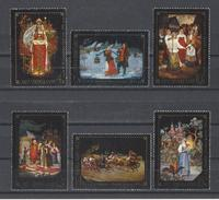 RUSSIE . YT 4355/4360 Neuf ** Oeuvres De Peintres Du Village Fedoskino Près De Moscou 1977 - Unused Stamps