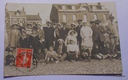 CAYEUX SUR MER-Groupe De Personnes Sur La Plage-Eté 1912-Carte Photo - Cayeux Sur Mer