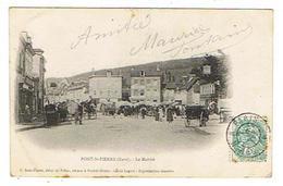 CPA 27 PONT ST PIERRE Le Marché - Altri Comuni