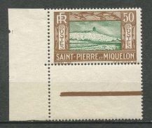 SPM MIQUELON 1932 N° 147 ** Neuf = MNH Superbe Cote 4,38 € Falaise Phare Light House - St.Pierre Et Miquelon