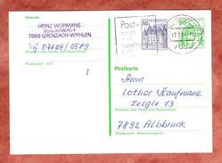 Ganzsachenkart + ZF, MS Post - Damit Man Voneinander Hört Grenzach-Wyhlen UB: Mi, 1987 (36341) - Marcophilie - EMA (Empreintes Machines)