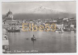 Catania (CT), Il Porto Con Vista Dell'Etna, Nuova - Catania