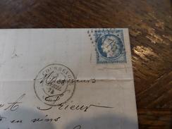 N°60 Sur LAC ,variété ,planchage ,GC1175 - Storia Postale