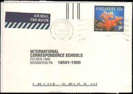 1998 SINGAPORE SINGLE CORAL ON POSTCARD - Francobolli