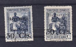 GUINEA 1937 TIPOS DE 1931. .EDIFIL Nº 251-252. USADOS  .SES507GRANDE - Guinea Española