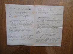 LES VOEUX DU JARDIN LE 2 JUILLET 1893 - Poésie