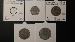 Romania - 1966,1975,1978 - 5,25 Bani + 1,3,5 Lei - KM 92,94-97 - VF - Look Scans - Rumänien