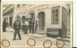 CRO1601  --  CABAR  ( GORSKI KOTAR )  - 1941 -  BANCA D ITALIA  --  OFFICER  --  ITALIAN OCCUPATION  --  REAL PHOTO  PC - Croazia