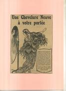 UNE CHEVELURE A VOTRE PORTEE  . PUB  DES ANNEES 1920 DECOUPEE ET COLLEE SUR PAPIER . - Parfums & Beauté