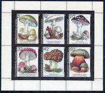 BULGARIA 1991 Poisonous Fungi Sheetlet.  Michel 3886-91 Kb - Unused Stamps