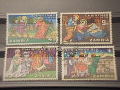 ZAMBIA - 1972 PITTURE NATALE  4 VALORI - TIMBRATI/USED - Zambia (1965-...)