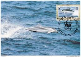 WWF - 103,33 - CM-MC - € 1,12 - 25-9-1990 - $1,50 - Dolphins - Montserrat 1094212 - Montserrat