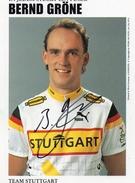 Cyclisme  BERND GRONE  Signé - Radsport