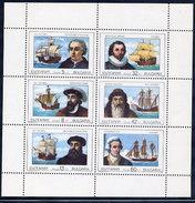 BULGARIA 1990 Maritime Explorers Sheetlet MNH / **.  Michel 3814-19 Kb - Bulgaria