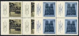 BULGARIA 1964 Franco-Bulgarian Exhibition Blocks Of 4 MNH / **.  Michel 1500-01 - Bulgaria