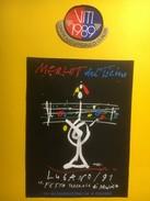 3772 - Festa Federale Di Musica Lugano 1991 Merlot Del Ticino 1989 Illustration Herbert Leupin - Musique