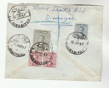 1957 Diwaniyah IRAQ REGISTERED Air Mail COVER To GB Stamps - Iraq