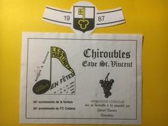 3773 - Les Martinets En Fête Cottens Suisse 1988 Fête Fanfare & Football Vin Chiroubles Cave St.Vincent 1987 - Musique