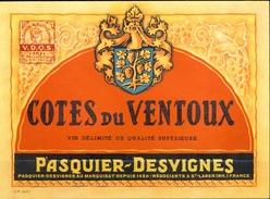 488 - France - Côtes Du Ventoux - V.D.Q.S. - Pasquier-Desvignes Au Marquisat Depuis 1420 Négociants à St Lager 69 - Rouges