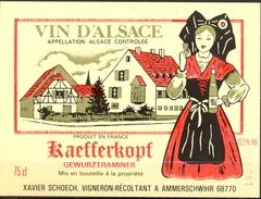 489 - France - Gewurztraminer - Kaefferkops - Xavier Schoech Vigneron Récoltant à Ammerschwihr 68770 - Gewurztraminer