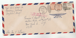 1948 Air Mail IRAQ COVER Stamps  AMERICAN EMBASSY To USA - Iraq