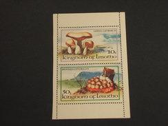 LESOTHO - 1983 FUNGHI 2 VALORI, Minifoglio - NUOVI(++) - Lesotho (1966-...)