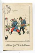 Anti Guillaume Poilu Bouziat Alsace Lorraine - Satirische