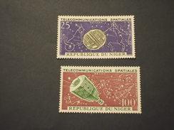 NIGER - P.a. 1964 Spazio 2 VALORI - NUOVI(++) - Niger (1960-...)