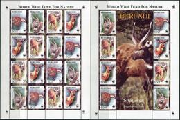 Burundi 2004. Michel #1867/70 MNH/Luxe. Klb. WWF. Sitatunga. (Ts55)