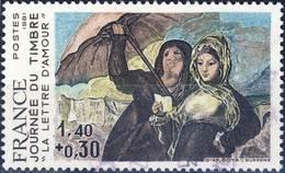 2124 Lettre D'AMOUR Tableau De GOYA OBLITERE ANNEE 1981 - Frankreich