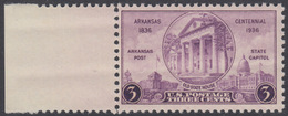 !a! USA Sc# 0782 MNH SINGLE W/ Left Margin - Arkansas