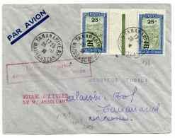 Lettre PAR AVION De TANANARIVE / 28 Nov 1936 / Voyage D'étude De M Assllant - Airmail