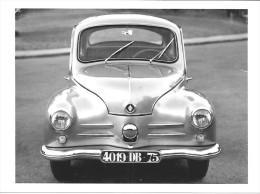 CARTE POSTALE VOITURE RENAULT 4 CV GHIA (1956) -  10X15 CM - PKW