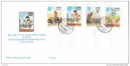 Stamps ERITREA 1996 SC 263-266 FDC MARTYRS  DAY - Eritrea