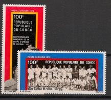 Congo - 1973 - Poste Aérienne PA N°Yv. 143 à 144 - Football - Neuf Luxe ** / MNH / Postfrisch