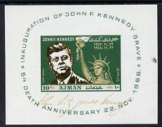 Ajman 1968, Kennedy And Statue Of Liberty BF IMPERFORATED