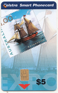AUSTRALIA(chip) - Enterprise Sailing Ship, World Stamp Expo Australia 99, Tirage 10000, Exp.date 03/01, Mint - Australië