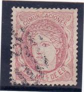 Espagne YT 105 Régence Oblit, - 1870-72 Regency