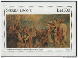 Sierra Leone  PAINTINGS - MUSEUM  MNH  Sc  1876  Sheet - Kunst