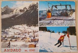 ANDALO (TRENTO) - VEDUTE INVERNALI - DOLOMITI DI BRENTA 1979 - Trento