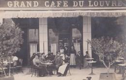 Carte Photo Rare :  Mende  (48)    Le Grand Café Du Louvre   Boulevard Du Soubeyrand - Mende