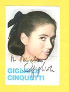 Postcard - Music, Gigliola Cinquetti     (V 31020) - Musique Et Musiciens