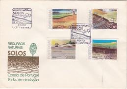PORTUGAL FIRST DAY COVER 1977 - RECURSOS NATURAIS - SOIL