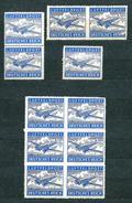 Deutsches Reich 1942, Feldpostmarken MiNr 1 A + 1 B, **/*/(*) - Lot Of 11 Stamps (incl. 2 Pairs And 6-block) - Allemagne